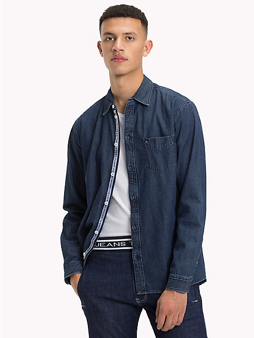 TOMMY JEANS Denim Shirt - DARK INDIGO - TOMMY JEANS Shirts - main image