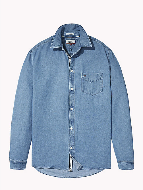 TOMMY JEANS Denim Shirt - MID INDIGO -  Shirts - detail image 1