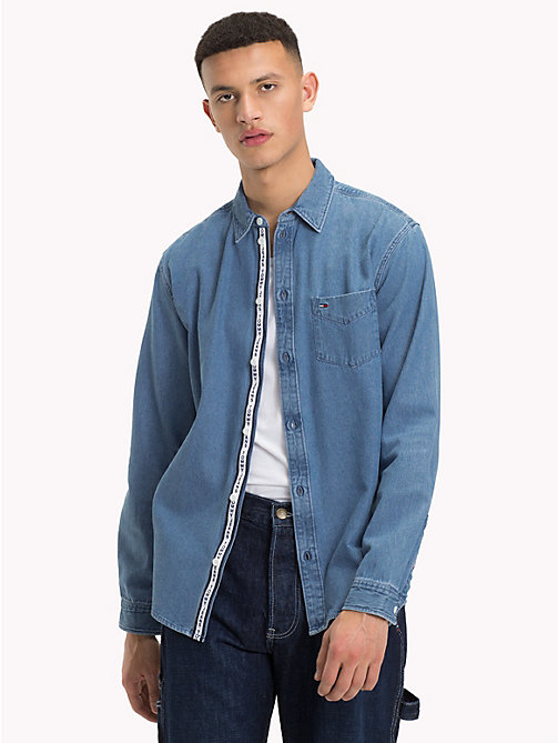 TOMMY JEANS Denim Shirt - MID INDIGO - TOMMY JEANS Shirts - main image