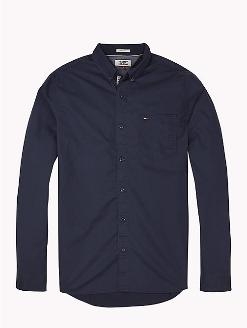 TOMMY JEANS Tape Detail Regular Fit Shirt - BLACK IRIS - TOMMY JEANS Shirts - detail image 1