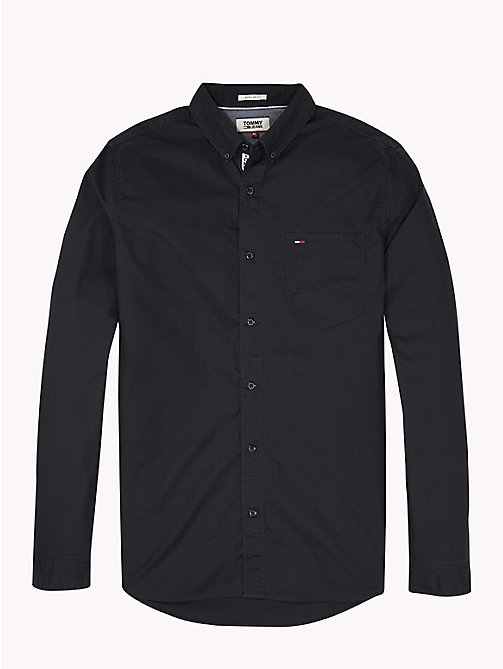 TOMMY JEANS Tape Detail Regular Fit Shirt - TOMMY BLACK - TOMMY JEANS Shirts - detail image 1