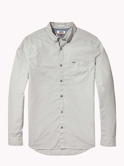 TOMMY JEANS Tape Detail Regular Fit Shirt - DRIZZLE - TOMMY JEANS Shirts - detail image 1