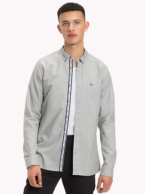TOMMY JEANS Tape Detail Regular Fit Shirt - DRIZZLE - TOMMY JEANS Shirts - main image
