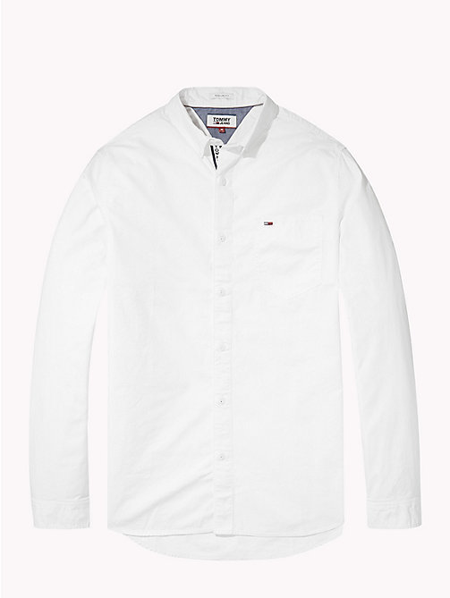 TOMMY JEANS Tape Detail Regular Fit Shirt - CLASSIC WHITE - TOMMY JEANS Shirts - detail image 1