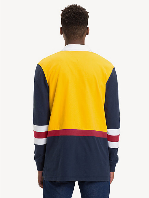 TOMMY JEANS Retro-Inspired Rugby Shirt - SPECTRA YELLOW/MULTI - TOMMY JEANS Rugby shirts - detail image 1