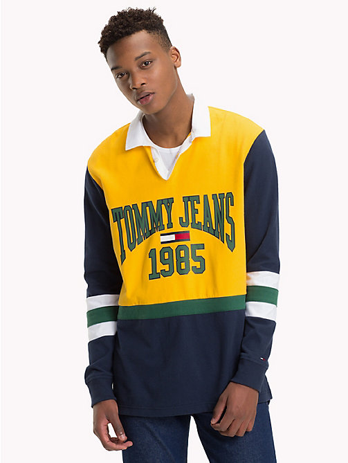 TOMMY JEANS Retro-Inspired Rugby Shirt - SPECTRA YELLOW / MULTI - TOMMY JEANS Rugby shirts - main image