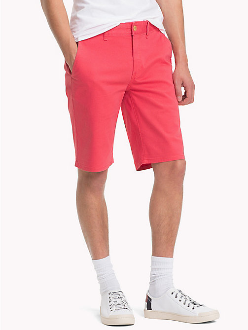 TOMMY JEANS Essential Straight Leg Chino Shorts - ROSE OF SHARON - TOMMY JEANS Trousers & Shorts - main image