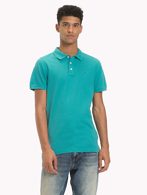 TOMMY JEANS Essential Polo Shirt - CORONET BLUE - TOMMY JEANS T-Shirts & Polos - main image