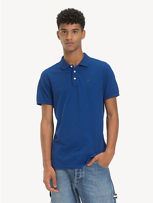 TOMMY JEANS Fine Pique Slim Polo Shirt - LIMOGES - TOMMY JEANS T-Shirts & Polos - main image