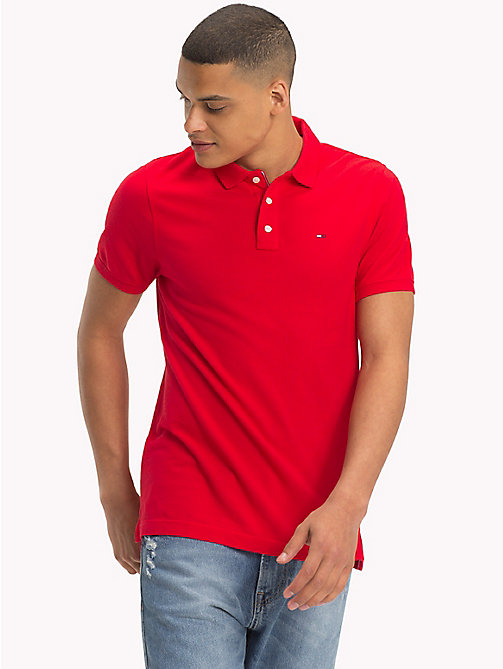 TOMMY JEANS Essential Polo Shirt - LOLLIPOP - TOMMY JEANS T-Shirts & Polos - main image