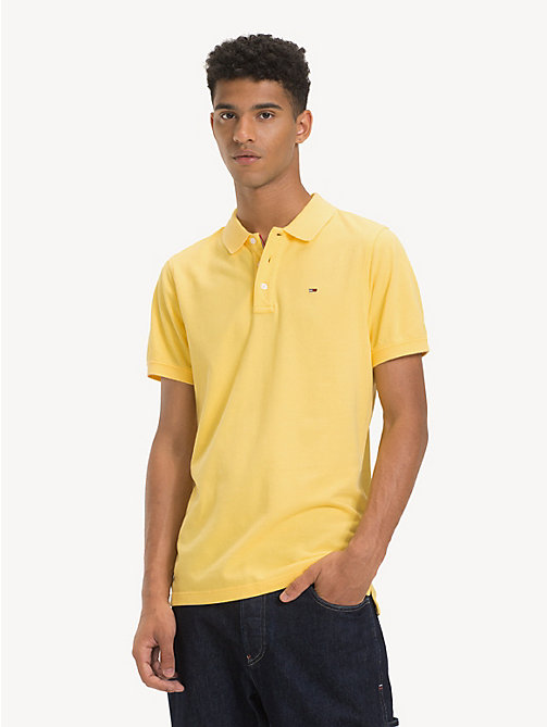 TOMMY JEANS Fine Pique Slim Polo Shirt - ASPEN GOLD - TOMMY JEANS T-Shirts & Polos - main image