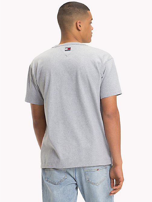 TOMMY JEANS 90s Flag Logo T-Shirt - LIGHT GREY HTR - TOMMY JEANS Capsule - detail image 1