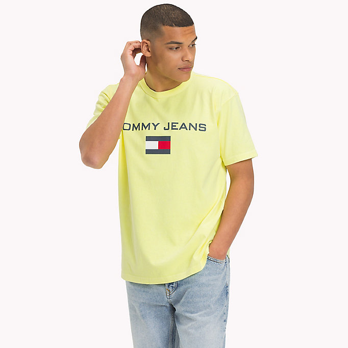 TOMMY JEANS T-Shirt mit 90s Flag-Logo - BARBADOS CHERRY - TOMMY JEANS Herren - main image