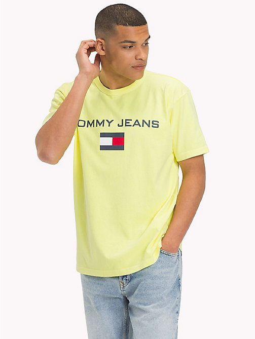 TOMMY JEANS 90s Flag Logo T-Shirt - SAFETY YELLOW - TOMMY JEANS TOMMY JEANS Capsule - main image