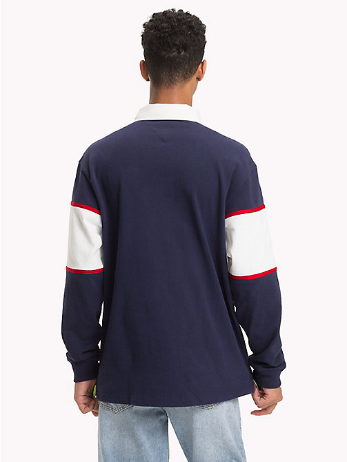 TOMMY JEANS Polo rugby con logo 90s - PEACOAT - TOMMY JEANS Polos rugby - imagen detallada 1