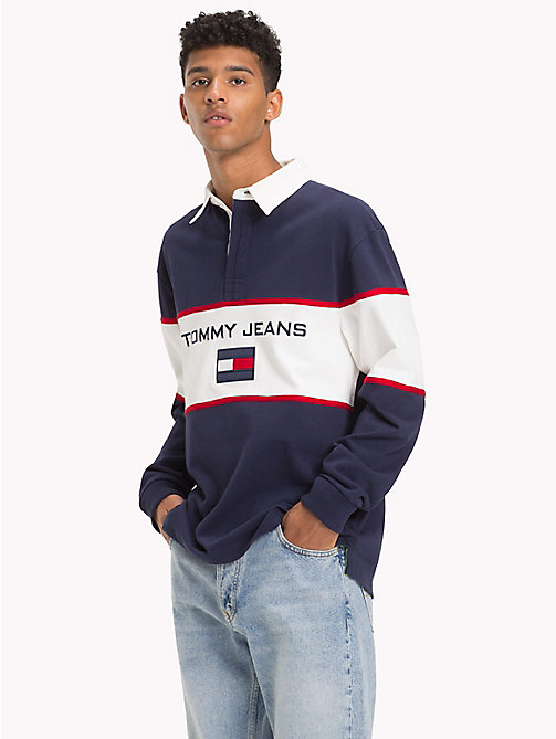 TOMMY JEANS Polo rugby con logo 90s - PEACOAT - TOMMY JEANS Polos rugby - imagen principal