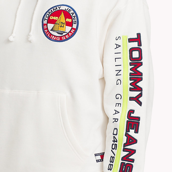 TOMMY JEANS 90s Logo Sailing Hoodie - BARBADOS CHERRY - TOMMY JEANS Men - detail image 2