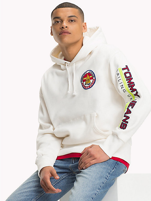TOMMY JEANS 90s Logo Sailing Hoodie - BRIGHT WHITE - TOMMY JEANS Capsule - main image