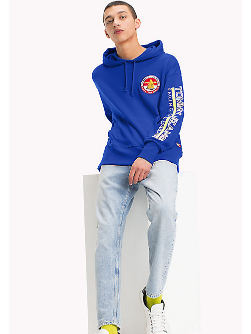 TOMMY JEANS 90s Logo Sailing Hoodie - SURF THE WEB - TOMMY JEANS Sweatshirts & Hoodies - main image