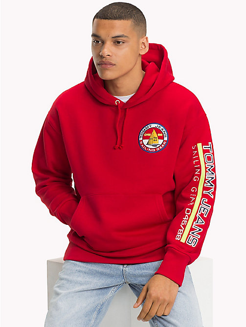 TOMMY JEANS 90s hoodie met Sailing-logo - BARBADOS CHERRY - TOMMY JEANS Capsule - main image