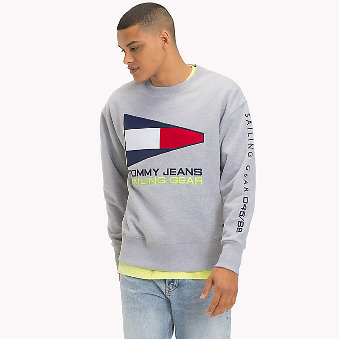 TOMMY JEANS 90s Sailing Logo Sweatshirt - SURF THE WEB - TOMMY JEANS Men - main image