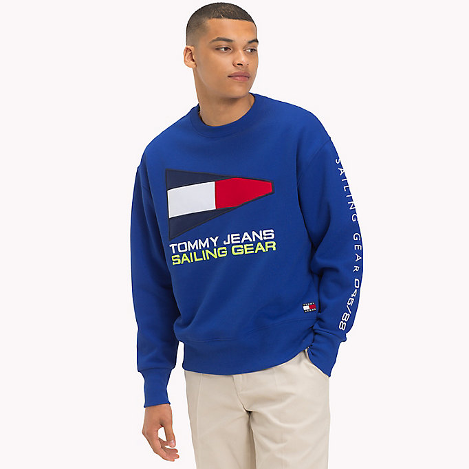 TOMMY JEANS 90s Sailing Logo Sweatshirt - BRIGHT WHITE - TOMMY JEANS Men - main image