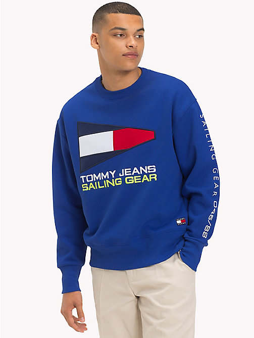 TOMMY JEANS Pull Sailing logo 90s - SURF THE WEB - TOMMY JEANS Sweats - image principale
