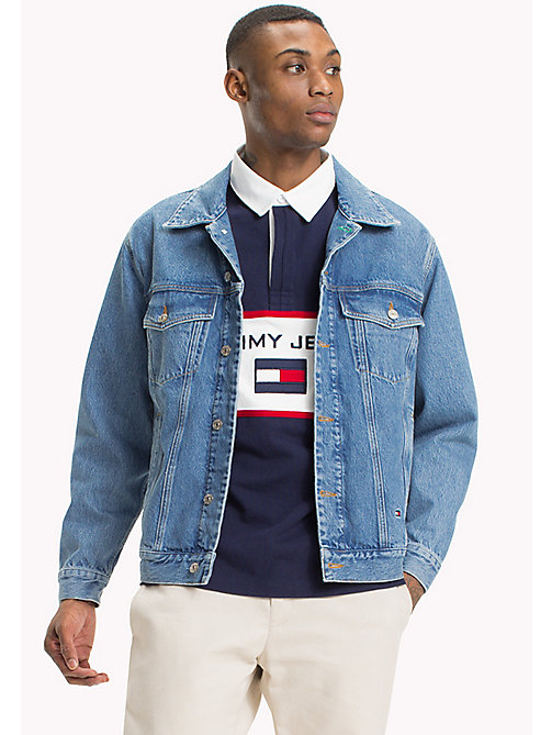 TOMMY JEANS 90s Sailing-Logo Denim Jacket - MID BLUE DENIM - TOMMY JEANS Coats & Jackets - main image