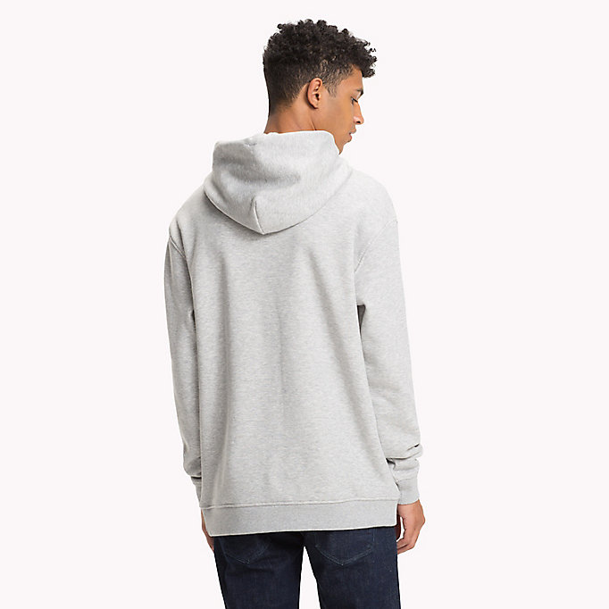 TOMMY JEANS Flag Logo Hoodie - CLASSIC WHITE - TOMMY JEANS Men - detail image 1