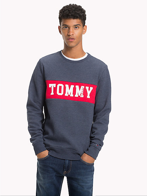 TOMMY JEANS Logo Panel Sweatshirt - BLACK IRIS - TOMMY JEANS Sweatshirts & Hoodies - main image