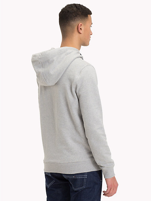 TOMMY JEANS Retro Graphic Hoody - LT GREY HTR - TOMMY JEANS Sweatshirts & Hoodies - detail image 1