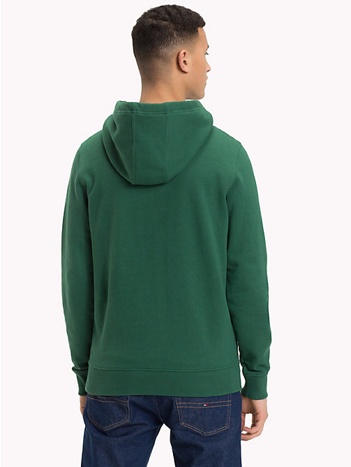 TOMMY JEANS Retro Graphic Hoody - HUNTER GREEN - TOMMY JEANS Sweatshirts & Hoodies - detail image 1