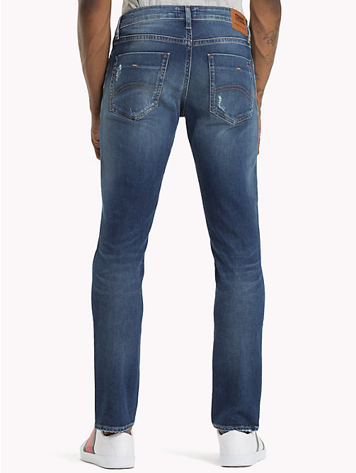 TOMMY JEANS Scanton Distressed Slim Fit Jeans - ROUTE SEVEN LT BL CO - TOMMY JEANS Jeans - detail image 1