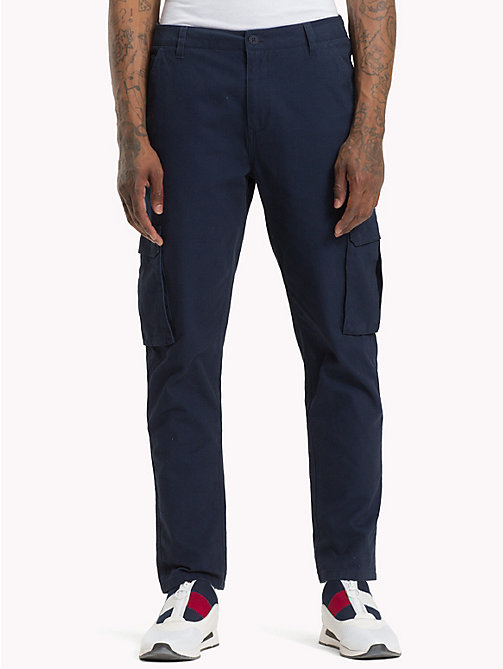 TOMMY JEANS Classic Fit Cargo Trousers - BLACK IRIS - TOMMY JEANS Trousers & Shorts - main image
