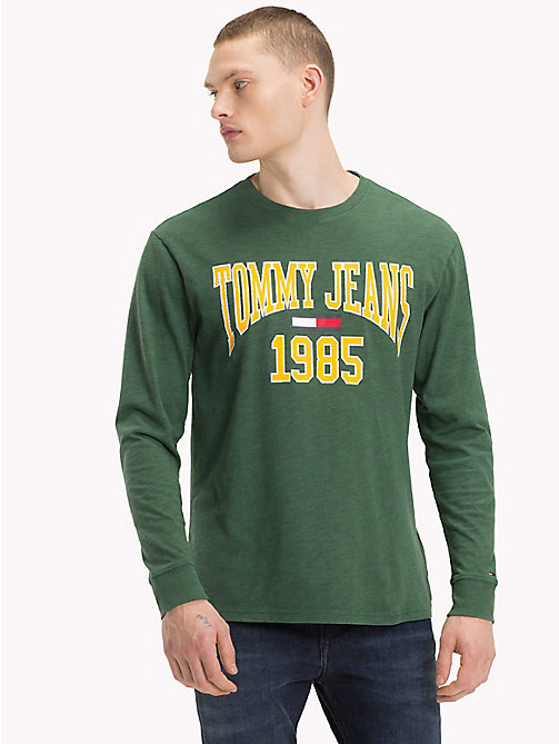 TOMMY JEANS College-T-shirt met lange mouwen - HUNTER GREEN - TOMMY JEANS Kleding - main image