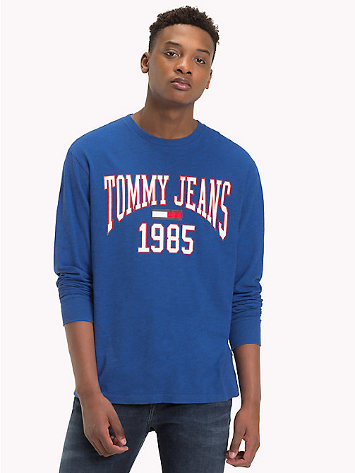 TOMMY JEANS Collegiate Logo Top - SURF THE WEB - TOMMY JEANS T-Shirts & Polos - main image