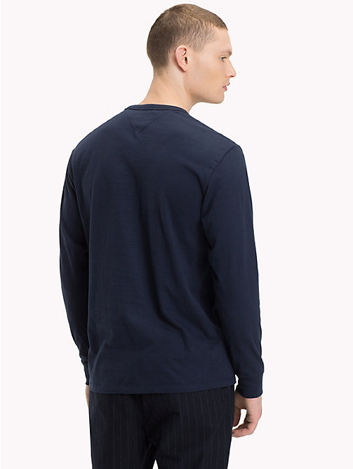 TOMMY JEANS Long-Sleeved Logo Top - BLACK IRIS - TOMMY JEANS T-Shirts & Polos - detail image 1