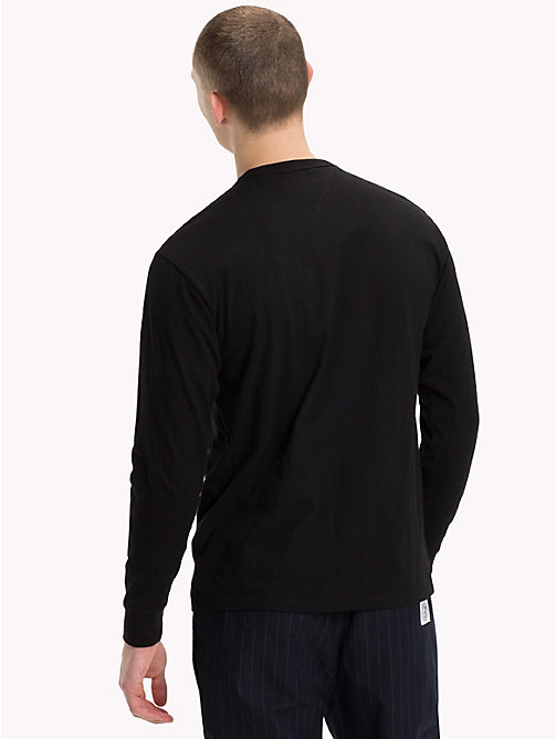 TOMMY JEANS Long-Sleeved Logo Top - TOMMY BLACK - TOMMY JEANS T-Shirts & Polos - detail image 1