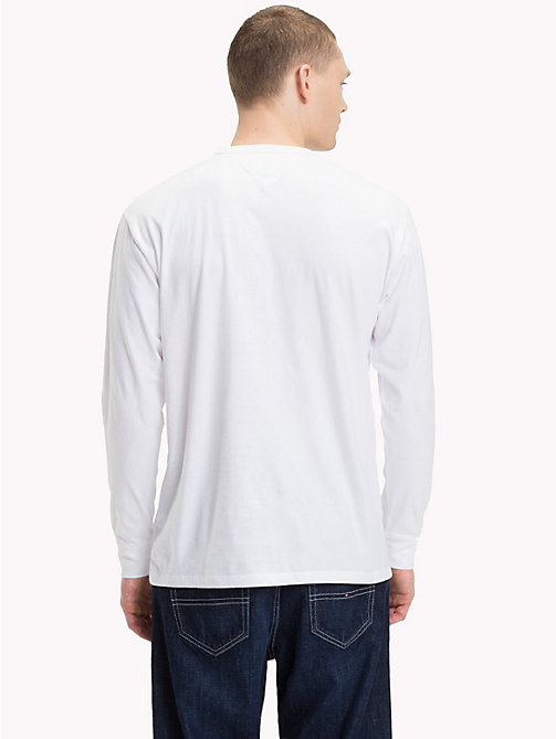 TOMMY JEANS Long-Sleeved Logo Top - CLASSIC WHITE - TOMMY JEANS T-Shirts & Polos - detail image 1