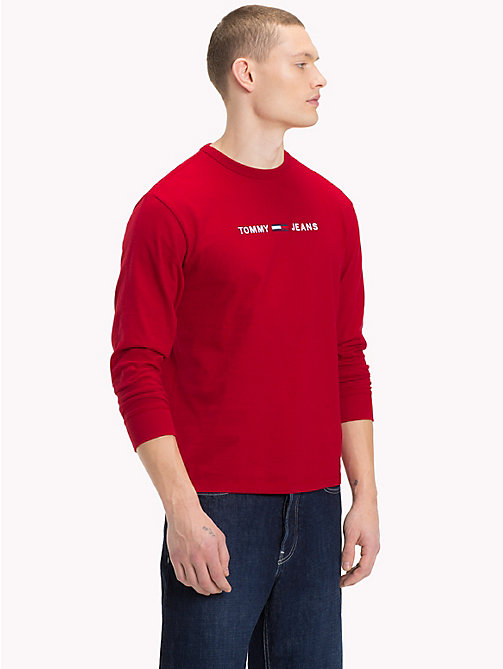 TOMMY JEANS Long-Sleeved Logo Top - SAMBA - TOMMY JEANS T-Shirts & Polos - main image