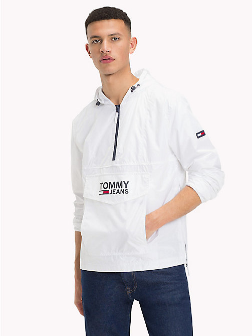 TOMMY JEANS Logo Pocket Hooded Anorak - CLASSIC WHITE - TOMMY JEANS Sustainable Evolution - main image