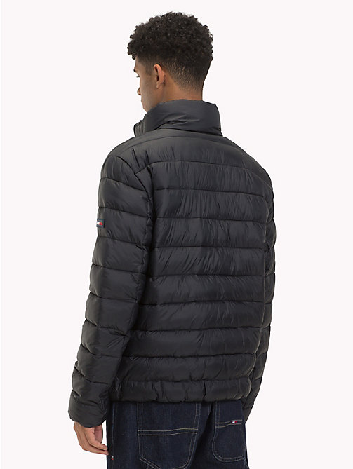 TOMMY JEANS Filled Recycled Fabric Puffer Jacket - TOMMY BLACK - TOMMY JEANS Sustainable Evolution - detail image 1