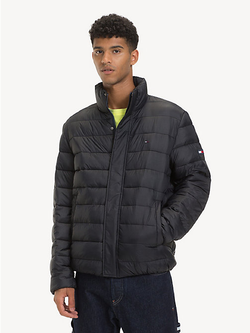TOMMY JEANS Filled Recycled Fabric Puffer Jacket - TOMMY BLACK - TOMMY JEANS Sustainable Evolution - main image