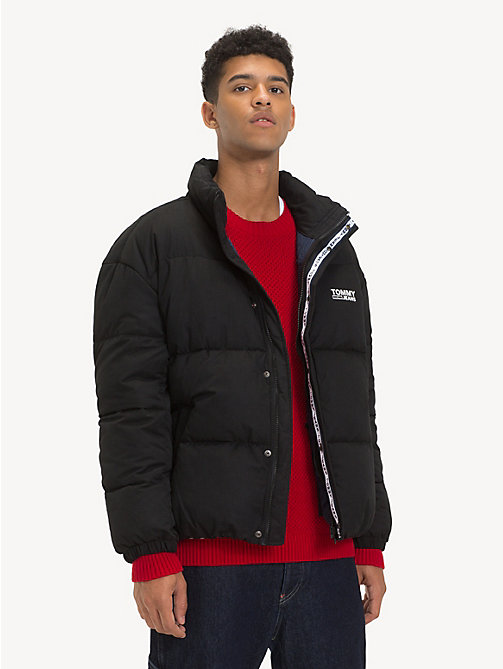 TOMMY JEANS Logo Puffer Jacket - TOMMY BLACK - TOMMY JEANS Coats & Jackets - main image