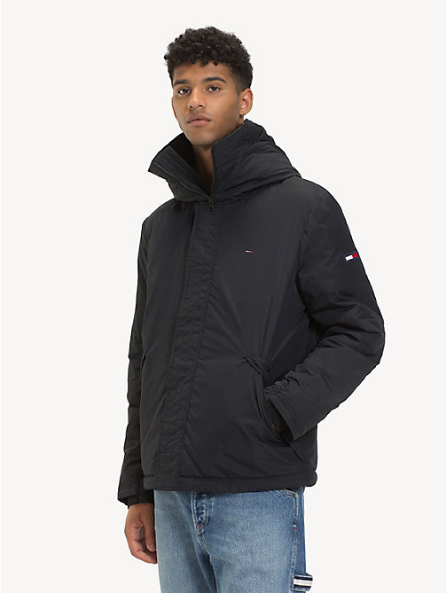 TOMMY JEANS Coated Velcro Jacket - TOMMY BLACK - TOMMY JEANS Coats & Jackets - main image