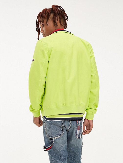 TOMMY JEANS Recycled Nylon Bomber Jacket - ACID LIME - TOMMY JEANS Coats & Jackets - detail image 1