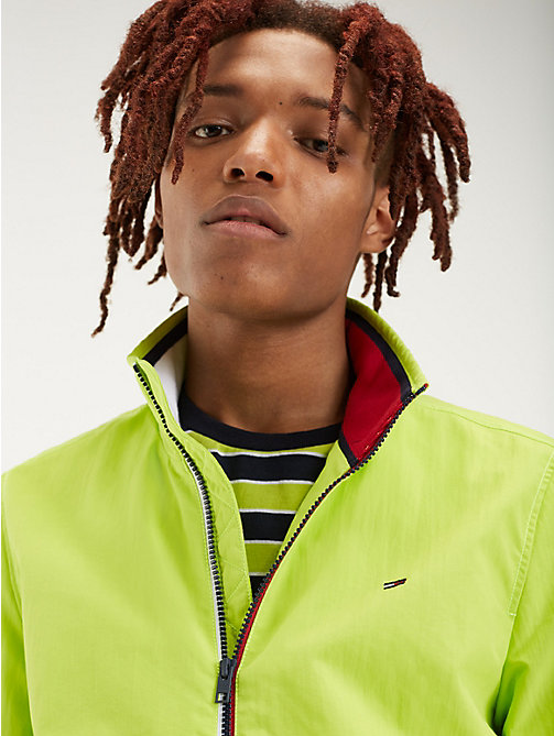 TOMMY JEANS Recycled Nylon Bomber Jacket - ACID LIME - TOMMY JEANS Coats & Jackets - main image