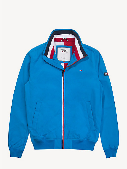TOMMY JEANS Blouson bomber en nylon recyclé - BRILLIANT BLUE - TOMMY JEANS Sustainable Evolution - image détaillée 1