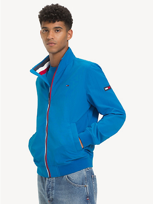 TOMMY JEANS Blouson bomber en nylon recyclé - BRILLIANT BLUE - TOMMY JEANS Sustainable Evolution - image principale