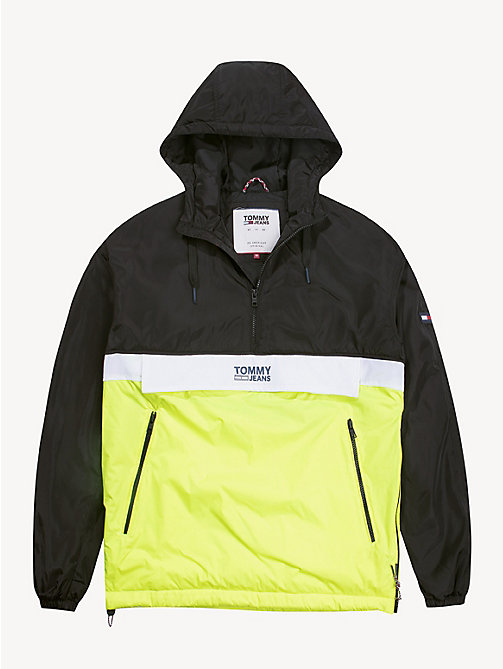 TOMMY JEANS Hooded Pullover Jacket - TOMMY BLACK / MULTI - TOMMY JEANS Coats & Jackets - detail image 1
